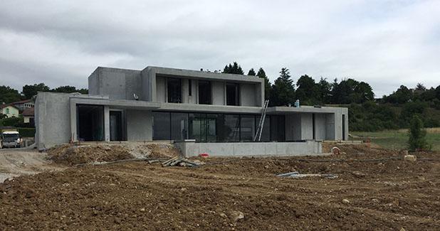 Chantier saint marcel bel accueil is re 38 for Construction piscine isere