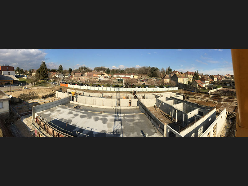 Chantier morestel is re 38 ma onnerie nombret for Construction piscine 38