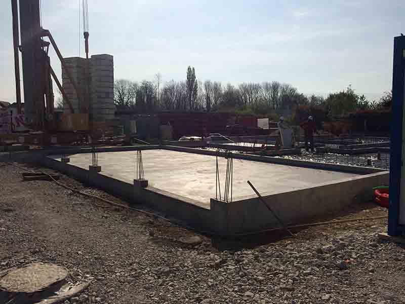 Haute Savoie entreprise du bâtiment - Construction dalle fondations immeuble