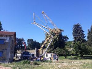 Extension maison pisé rénovation