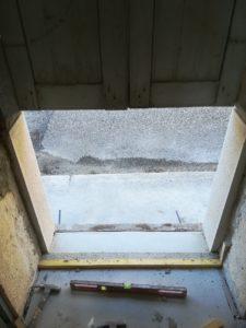 Réhaussement de porte - rénovation