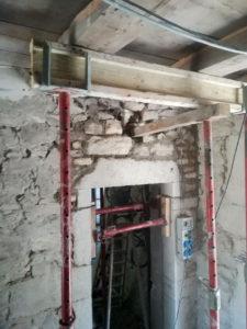 Création d'ouverture maison en pierre