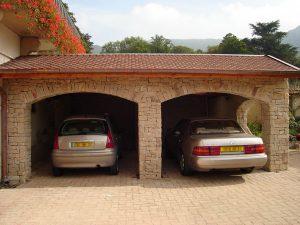 Maçonnerie Nombret construction garage en pierre