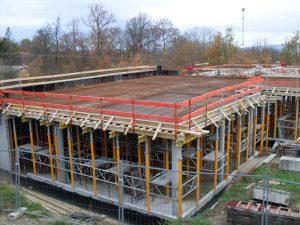 Maçonnerie Nombret construction du restaurant scolaire en Isère