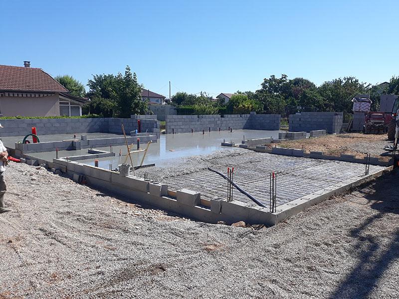 Construction de villa - dalle