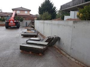 Mur de clôture en béton armé