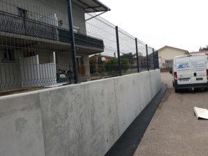 Clôture pour maison - Travaux de maçonnerie à Frontonas