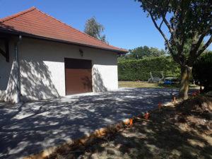 Travaux de construction d'une terrasse, travaux de maçonnerie à Ruy