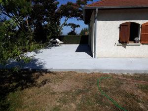 Maçonnerie Nombret travaux de maçonnerie sur terrasse en béton armé