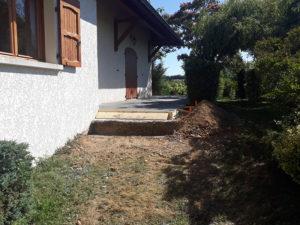 Travaux constructon de marches de terrasse en béton armé