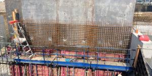 Ferraillage, murs en béton armé