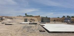 Génie civil, mise en place de radier, élévation de murs en béton armé