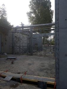 Maçonnerie construction de mur en béton armé en Haute-Savoie
