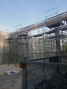 Maçonnerie construction de mur en béton armé, coffrage