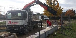 Entreprise de maçonnerie construction de muret en pierre massif