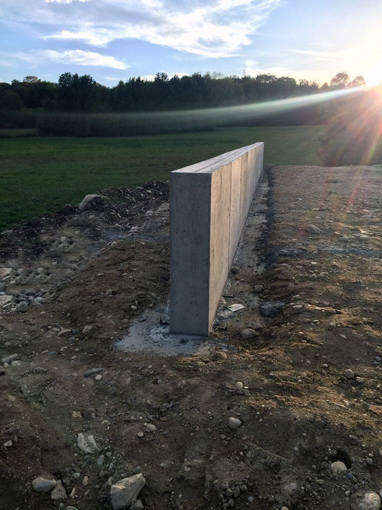 Entreprise de maçonnerie, construction d'un mur de soutènement