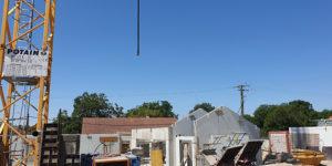 Construction avec prémur en pignon