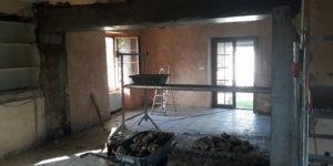 Création d'une ouverture sur mur porteur, rénovation