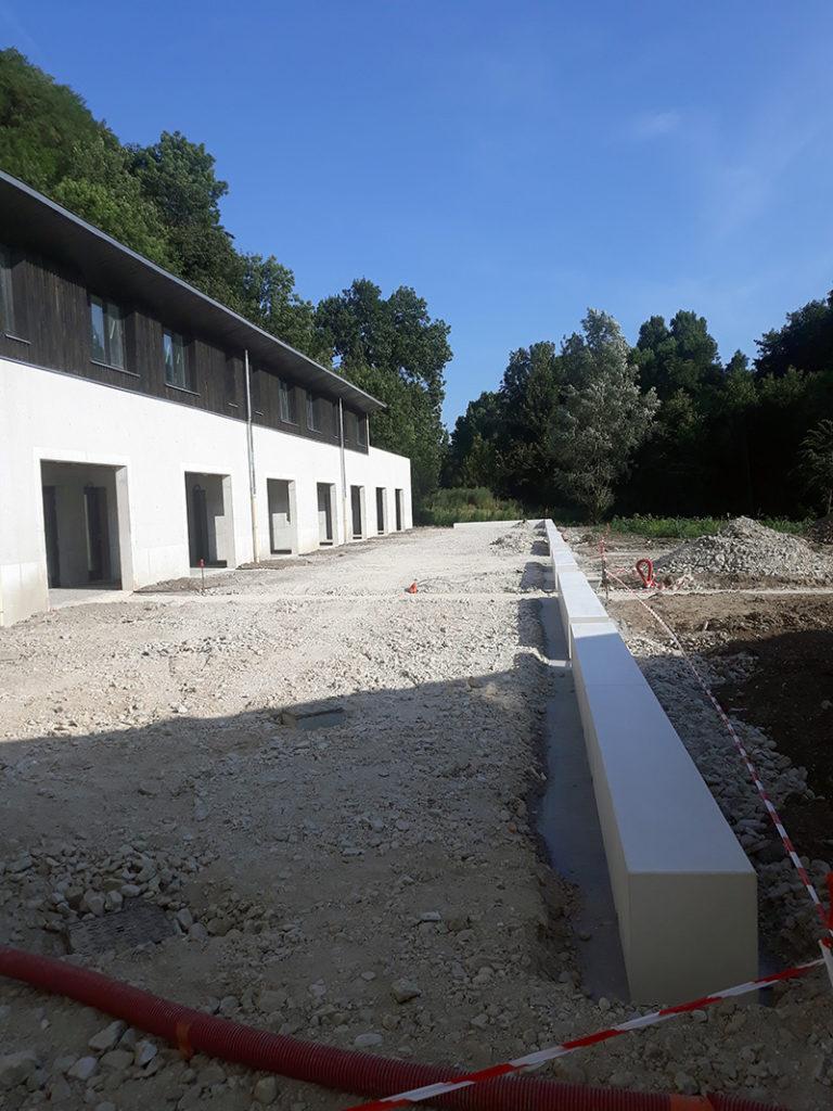 Maçonnerie construction de la MFR de Morestel