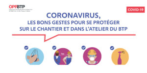 AFFICHE Entreprise de maçonnerie - Les gestes pour se protéger sur les chantiers du Coronavirus