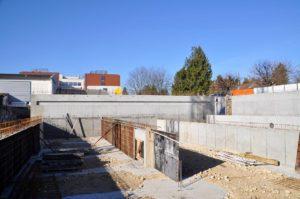 Terrassement, coffrage et ferraillage - Pisicine municipale de Morestel