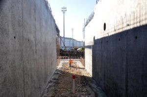 Construction de murs en béton armé - Piscine municipale de Morestel