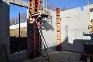 Construction de murs en béton armé en Isère